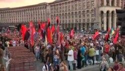 Ukraynada qatı millətçilər hökumətə qarşı çıxır
