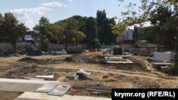 Площадь Куйбышева в Симферополе, 25 августа 2021 года