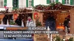 Autós karácsonyi vásárral hangolódnak az ünnepre egy német városban