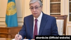 Among the top officials on the list were Kazakh President Qasym-Zhomart Toqaev (above) and Prime Minister Asqar Mamin.