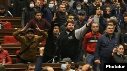 Armenia - Angry protesters break into the Armenian parliament, Yerevan, November 10, 2020,