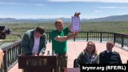 Олег Зубков у парку левів «Тайган»