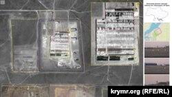 Военная база хранения вблизи поселка Новоозерное