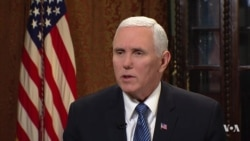 Pence Says Sanctions 'Emboldening' Iran Protests