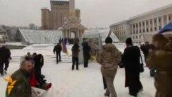 Донбассда ҳалок бўлган украиналик полициясичи Киевда дафн этилди