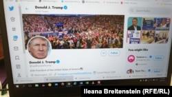 АҚШ президенті Дональд Трамптың Twitter желісіндегі жеке аккаунты. 6 тамыз 2020 жыл.
