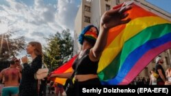 Ukraynada LGBT fəalların yürüşü