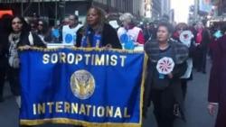Марш в поддержку женщин