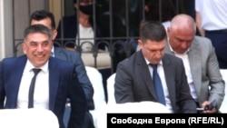 Веселин Марешки (на задния ред вдясно) заедно с бившия правосъден министър Данаил Кирилов и политическия ръководител на МВР Христо Терзийски по време на Националното съвещание на прокуратурата на 24 август