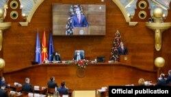 Скопје- годишно обраќање на претседателот Стево Пендаровски во македонското Собрание, 16.12.2020