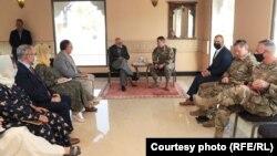 ملاقات جنرال سکات میلر با معصوم ستانکزی در قطر