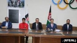 کنفرانس خبری مسئولان فدراسیون ملی تکواندوی افغانستان در پیوند به رد اتهامها علیه این فدراسیون.