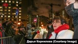 Оппозиционный политик Юлия Галямина в день вынесения приговора Мещанским судом Москвы, 23 декабря 2020 года