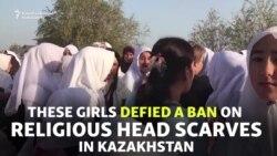 Kazakh Students Defy Head-Scarf Ban