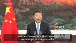 Președintele chinez, Xi Jinping, avertizează asupra pericolului politizării pandemiei