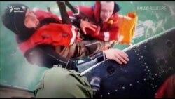 Відео рятувальної операції на місці аварії судна, в якій загинули українці