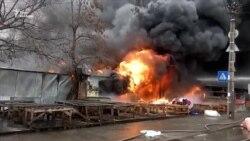 Пожежу біля станції метро «Лісова» у Києві загасили – ДСНС (відео)