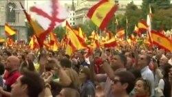 «Каталония – это Испания!»: демонстранты в Мадриде (видео)