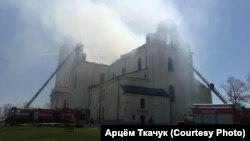 Пажар у касьцёле Маці Божай Будслаўскай, 11 траўня 2021