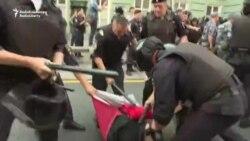 Oameni bătuți și copii arestați la protestele din Rusia în 9 septembrie