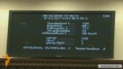 ԵՏՄ պայմանագրին դեմ քվեարկեցին որոշ ընդդիմադիր պատգամավորներ և «Ժառանգությունը»