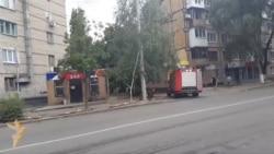 Под обстрелом на улице в Донецке