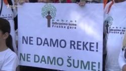 Protest u Beogradu 'Ne za MHE'