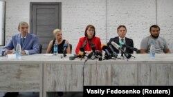 На 18 август 2020 г. беше създаден Координационен съвет на опозицията. От ляво надясно: Павел Латушка, Мария Калесникова, Волха Ковалкова, Максим Знак, Сяргей Дълевски.