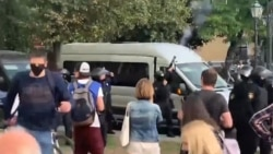 Belarusian Police Fire Into Air As Protesters Arrested In City Of Brest