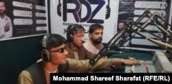 Journalists on the air at Radio Dehrawud.