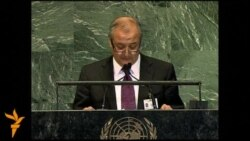 Uzbek Foreign Minister Abdulaziz Kamilov at the United Nations General Assembly
