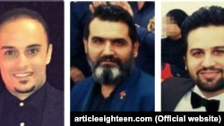 از چپ به راست: حبیب حیدری، سام خسروی و ساسان خسروی