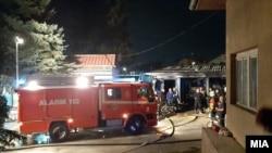 Пожар во модуларната болница во Тетово