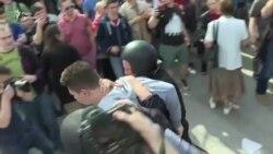 У Москві тривають масові затримання на акції проти Путіна (відео)