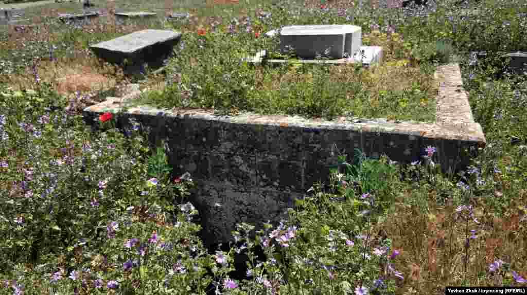 На караимском кладбище имеются склепы, вход в один из них удалось обнаружить Крым.Реалии