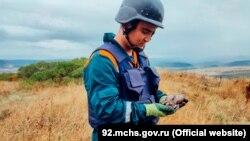 Мины, обнаруженные в районе поселка Сахарная Головка в Севастополе