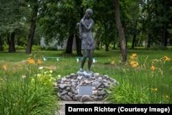 Monument to Pasha Osidach. Chernobyl, Ukraine.