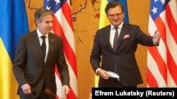 Ուկրաինայի նախագահ Դմիտրի Կուլեբան ընդունում է ԱՄՆ պետքարտուղար Էնթոնի Բլինքենին, Կիև, 6-ը մայիսի, 2021թ․
