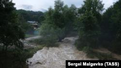 Последствия ливней в селе Соколиное Бахчисарайского района