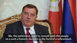 Republika Srpska President Confirms Plans For Controversial Referendum