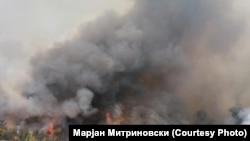 Пожар во близина на Пехчево. Илустрација.