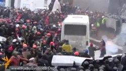 Protestçiler Kiýewde polisiýa bilen çaknyşdy