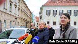 Branka Bakšić Mitić i Martina Pavičić na konferenciji za tisak u Zagrebu
