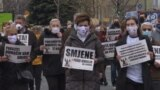 """Fight For Life"" Demonstrators Call For Stronger Anti-COVID Measures In Sarajevo GRAB 1"