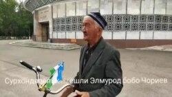 81-летний аксакал из Узбекистана отправился в путешествие на велосипеде в соседний Кыргызстан