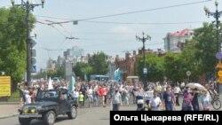 Шествие в поддержку Сергея Фургала. Хабаровск. 18 июля 2020