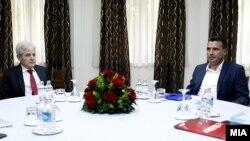 Али Ахмети и Зоран Заев