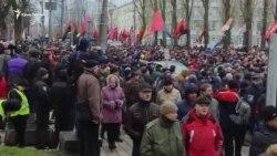«Марш за импичмент»: в Киеве сторонники Саакашвили требуют отставки Порошенко (видео)