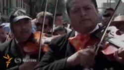 Мехикода анъанавий халқ мусиқаси ижрочилари паради бўлди