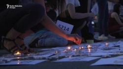 Beogradske sveće za Srebrenicu
